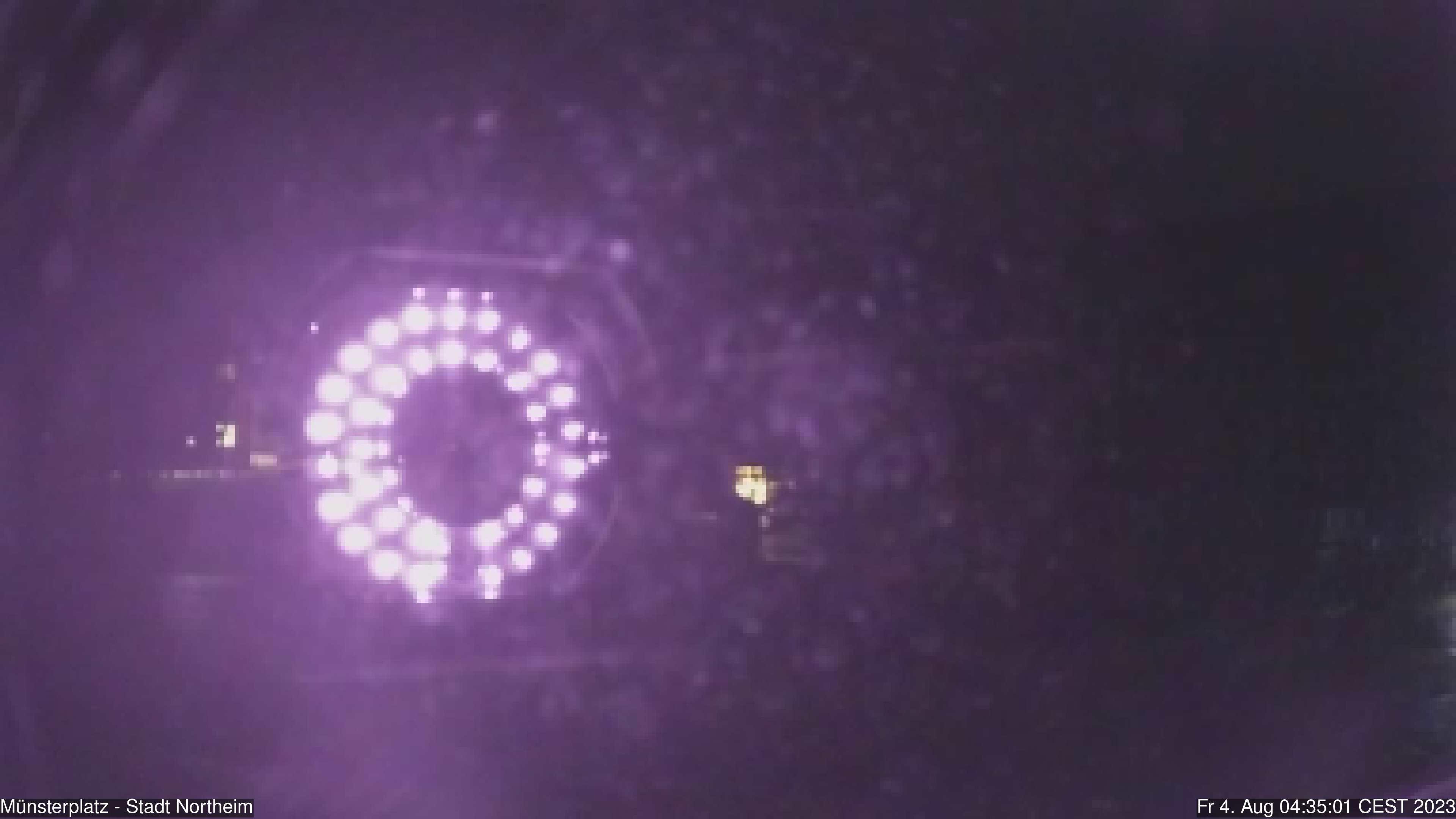 Die Webcam zeigt das Bild von dem Münsterplatz.